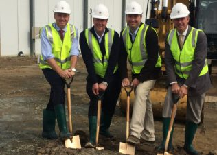 Construction has started on Huon's new Parramatta Creek facility