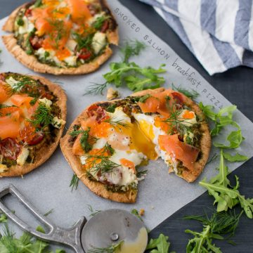 Reserve Selection Smoked Salmon Whisky Cured breakfast pizza