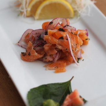 Reserve Selection Cold Smoked Salmon in Japanese yuzu and shiso dressing