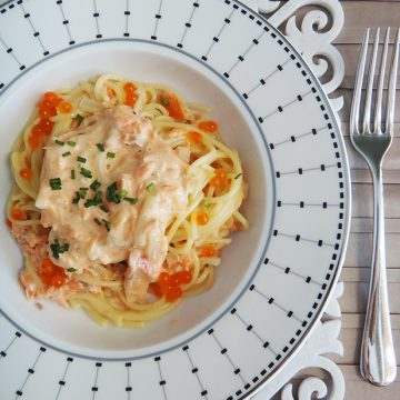 Creamy pasta with Reserve Selection Hot Smoked Ocean Trout