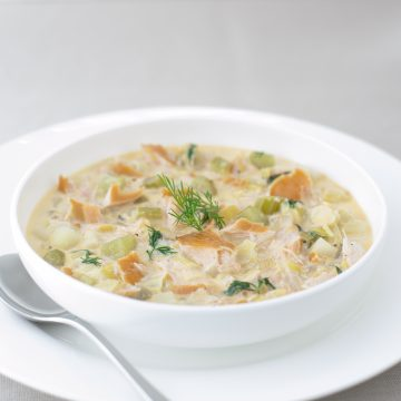 Huon Premium Hot Smoked Salmon chowder