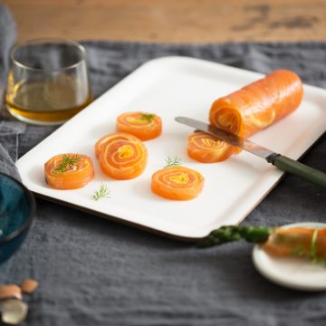 Boudine of Reserve Selection Whisky Cured Smoked Salmon