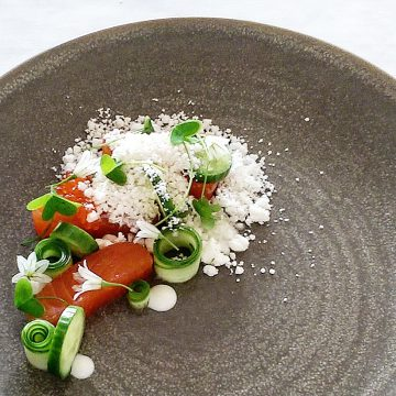 Cured Huon Salmon, Horseradish & Cucumbers