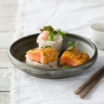 Miso, Orange and Ginger Huon Salmon