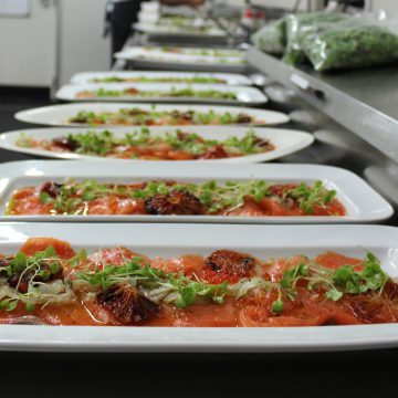 Ian Curly's Huon Ocean Trout Crudo