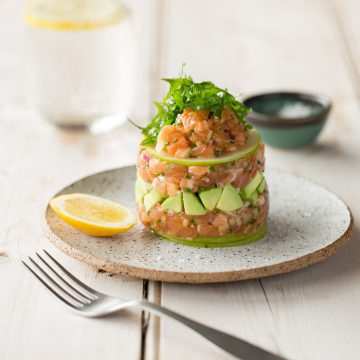 Fresh Huon Salmon citrus tartare
