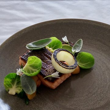 Pan Roasted Huon Salmon, Yam, Watercress