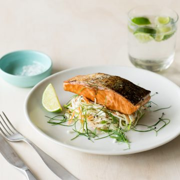 Huon Salmon with Texas Slaw