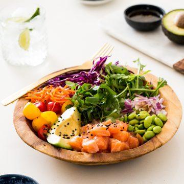 Huon Salmon Poke Bowl by Lyndi Cohen