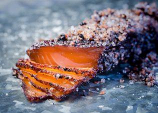 Tasmanian Pepperberry Cured Huon Salmon