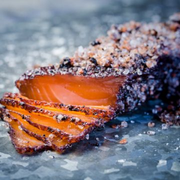 Tasmanian Pepperberry Cured Huon Salmon