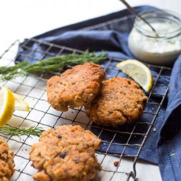 Lemon and tarragon Huon Salmon Cakes