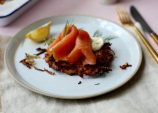 Smoked Huon Salmon with celeriac and potato rösti