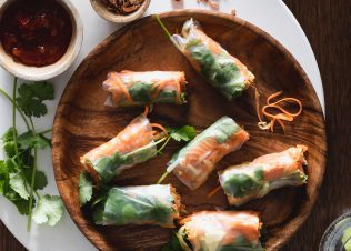 Fresh Huon Salmon Spring Rolls with Chilli Jam