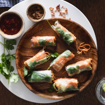 Fresh Huon Salmon Spring Rolls with Chilli Jam