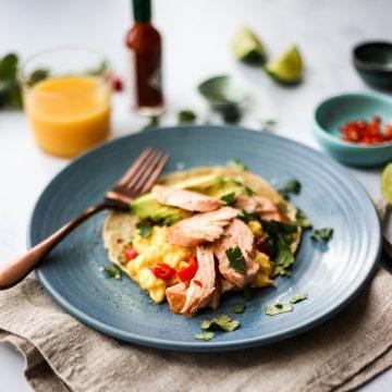 Huon Salmon Breakfast Burrito