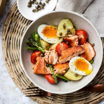 Huon Salmon Asparagus Salad