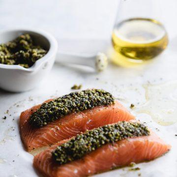 Baked Huon Salmon with Pistachio Crust