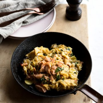 Buttery Eggs with Huon Salmon