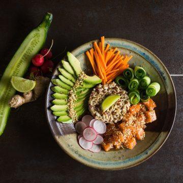 Huon Salmon Poke Bowl