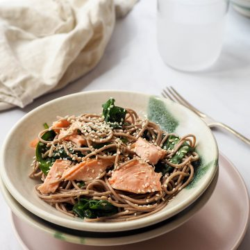 Hot Smoked Huon Salmon with Soba Noodles
