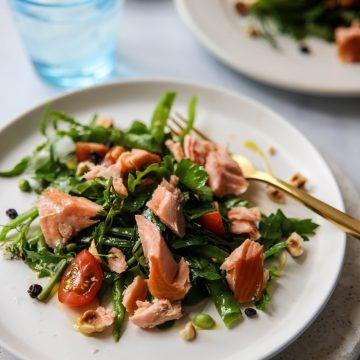 Wood Roasted Huon Salmon Herb Salad