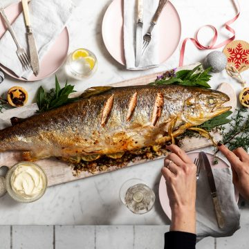 Christmas Stuffed Whole Huon Salmon