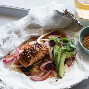 Fajita Fish Parcel