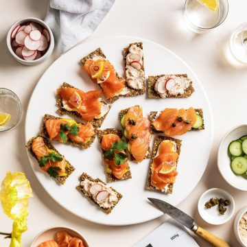 The Perfect Salmon Rye Crackers