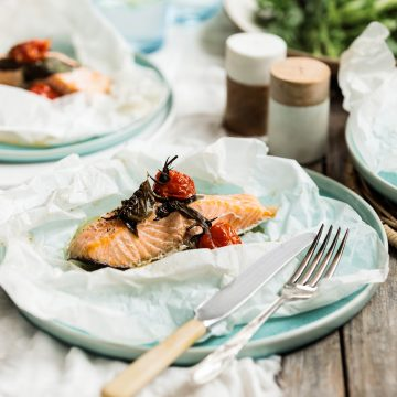 Huon Salmon and Basil Parcels