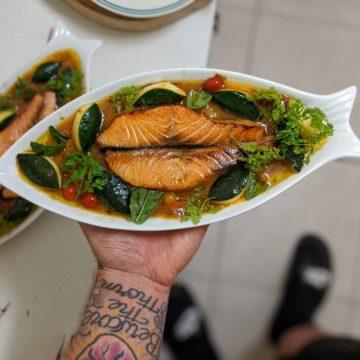 Roast Salmon a la vierge