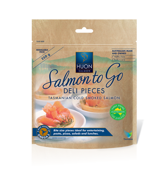 Salmon to Go Cold Smoked Deli Pieces 250g