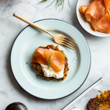 Sweet Potato Rostis with Smoked Salmon