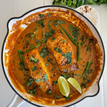 Red Coconut Huon Salmon Curry