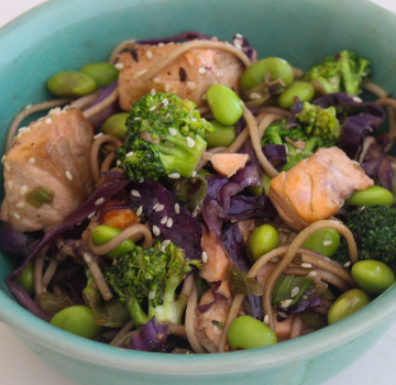 Garlic & Ginger Salmon Stir-Fry