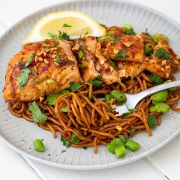 Spicy Huon Salmon & Noodles